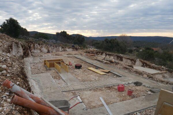 2.Gradnja privatne Vile s bazenom u Rogoznici beton